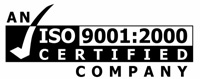 ISO 9001:2000 Certified Company Logo